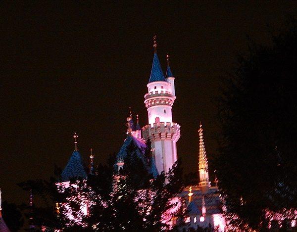 Disneyland fireworks castle