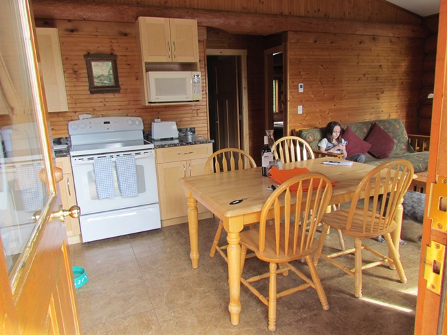 crystal cove cabin inside