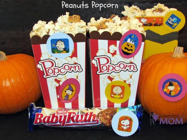 Peanuts popcorn done