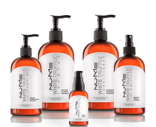nume white truffle hair care collection
