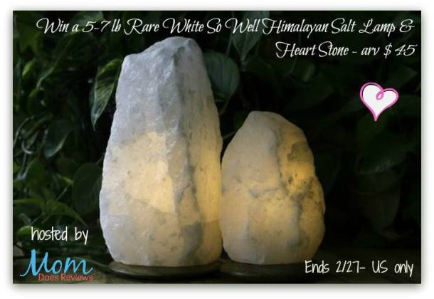 Rare White Himalayan Salt Lamp Giveaway - Powered By Mom