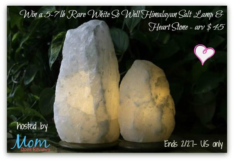 rare white himalayan salt lamp