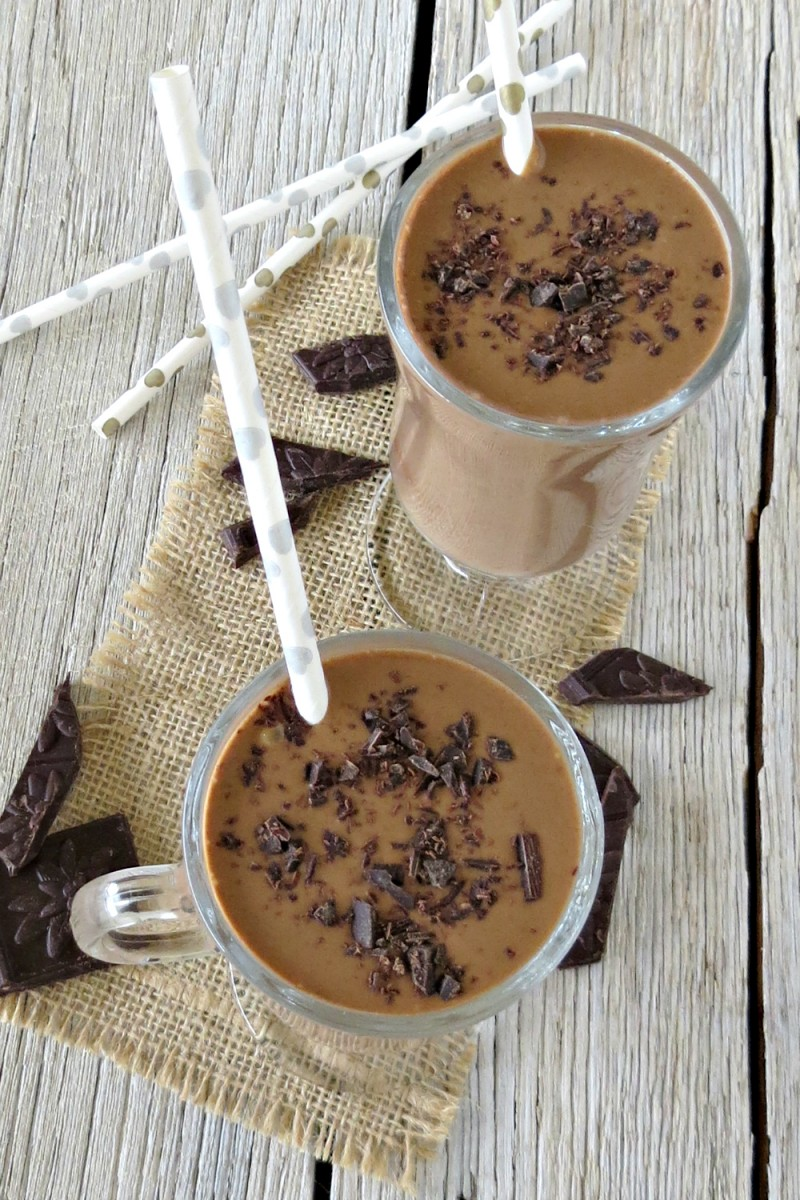 Dark Chocolate Peanut Butter Banana Smoothie