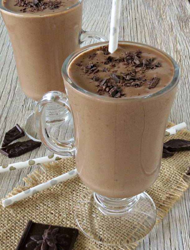 dark chocolate peanut butter banana smoothie (3)