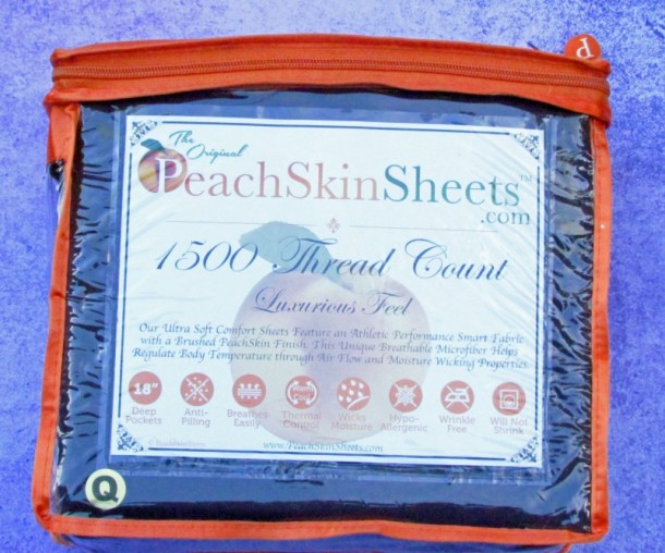 peachskin sheets in package
