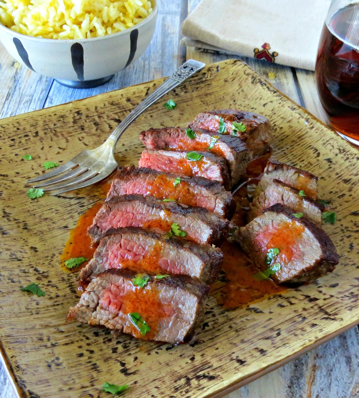 steak with sriracha cilantro butter (1)