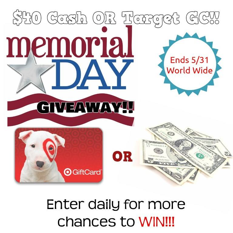 40 cash giveaway May 27-31