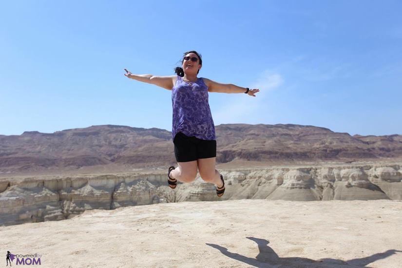 Naot Kayla Sandals Jumping in the Judean desert