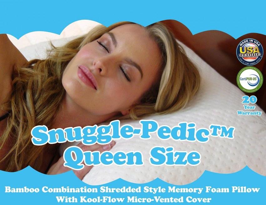 Snuggle Pedic Shredded Memory Foam Pillow Giveaway