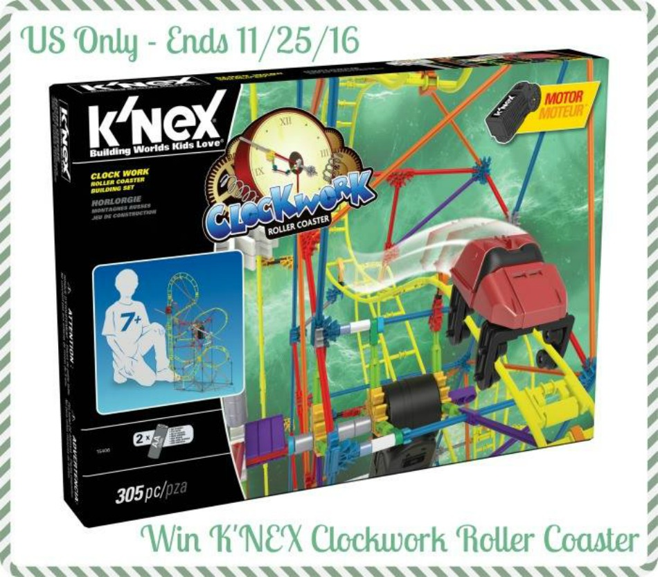 Knex Clock Work Roller Coaster Build Set Giveaway Powered By Mom