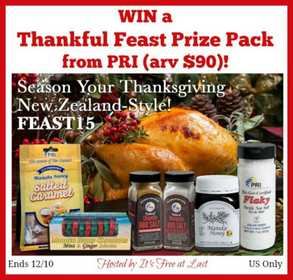 Thankful Feast Manuka Honey Prize Pack from PRI Giveaway