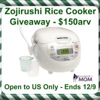 Zojirushi Neuro Fuzzy Rice Cooker Giveaway