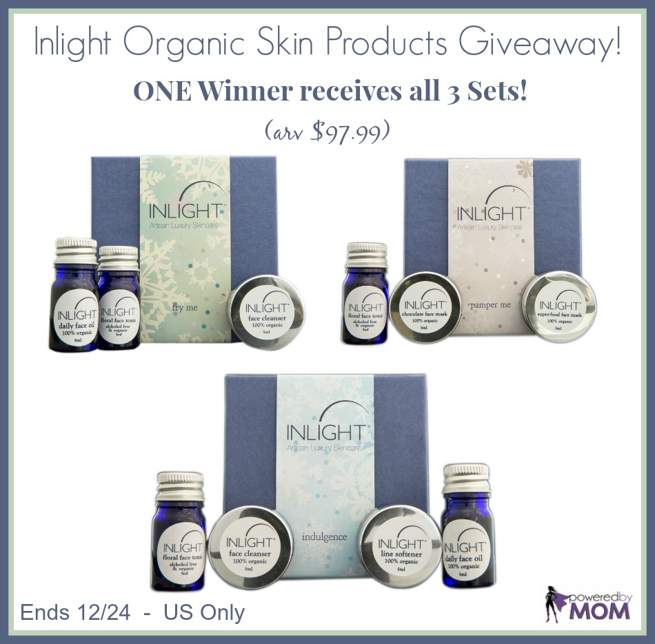 Inlight Organic Skin Products Prize Pack Giveaway