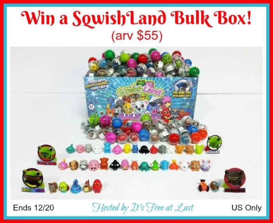 SqwishLand Bulk Box (250 Capsules - arv $55) Giveaway