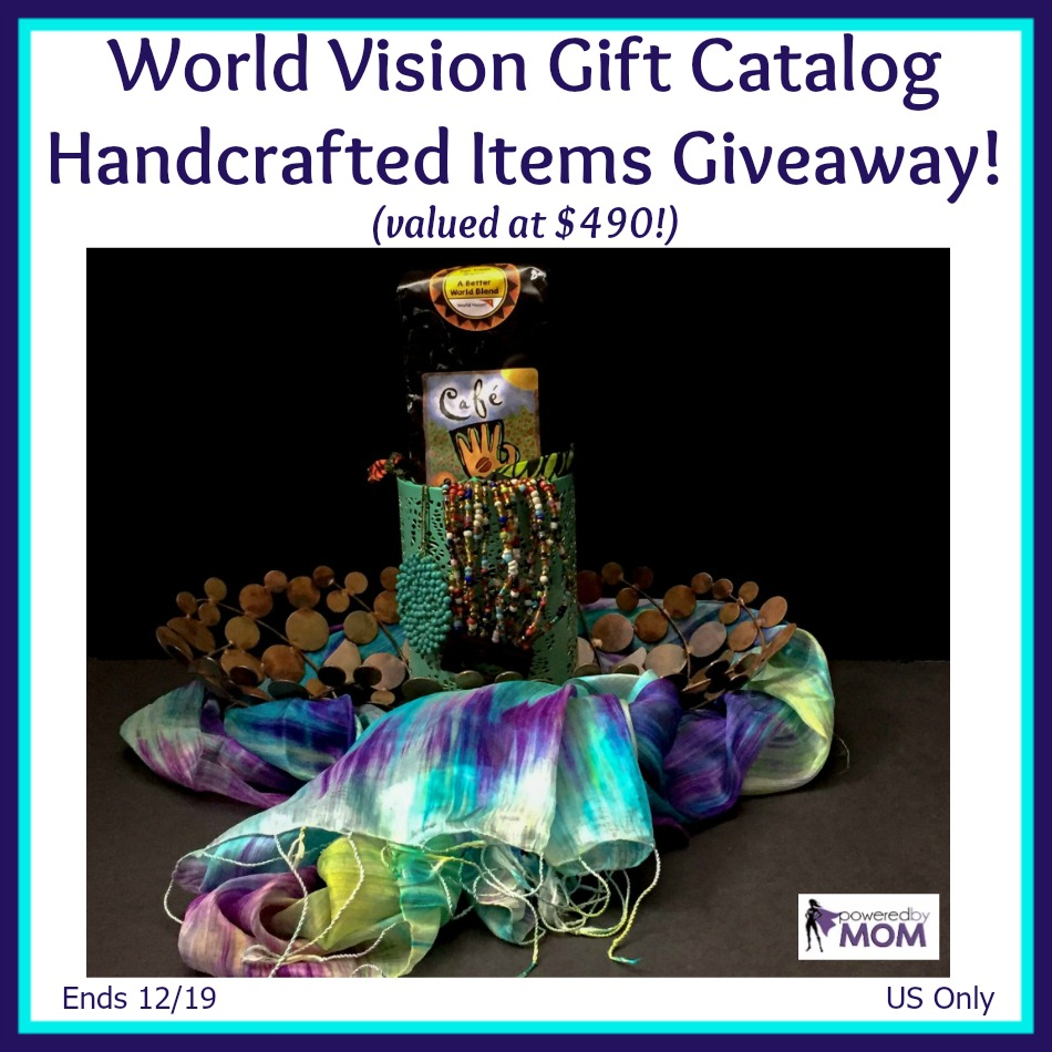 World Vision Gift Catalog Handcrafted Items giveaway button