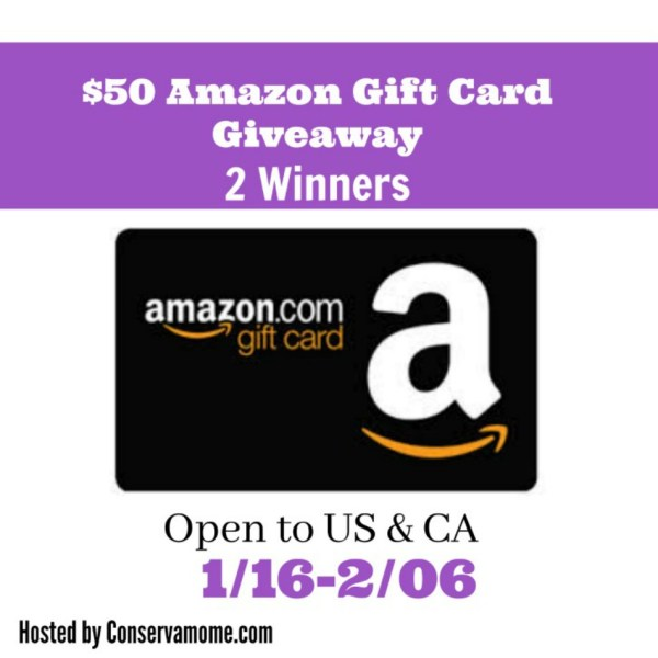 50 amazon gift card giveaway 2 winners powered by mom. Black Bedroom Furniture Sets. Home Design Ideas