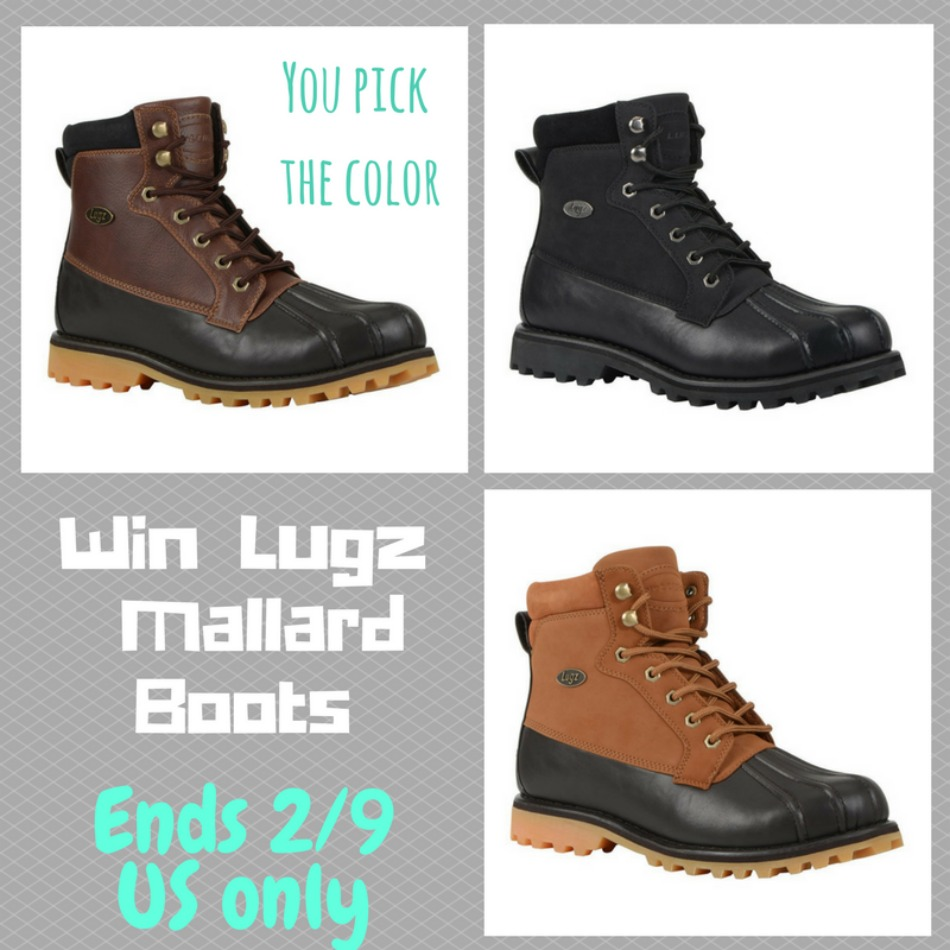 f003e7adf03e LUGZ Mallard Men s Boots Giveaway! - Powered By Mom