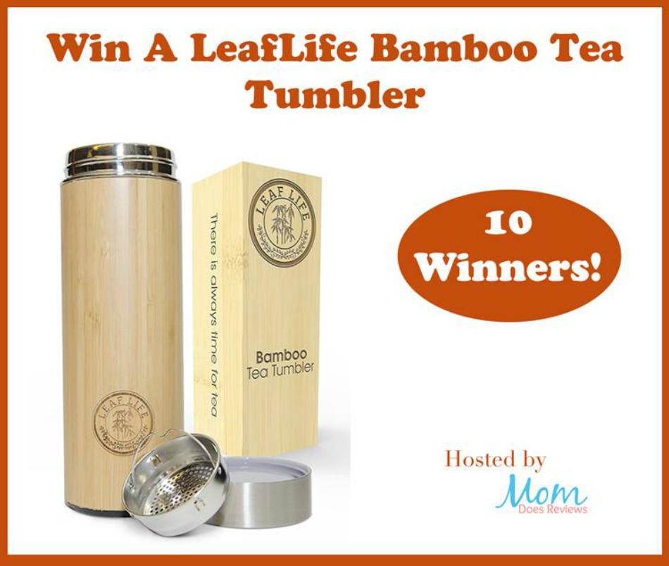 LeafLife Bamboo Tea Tumbler Giveaway