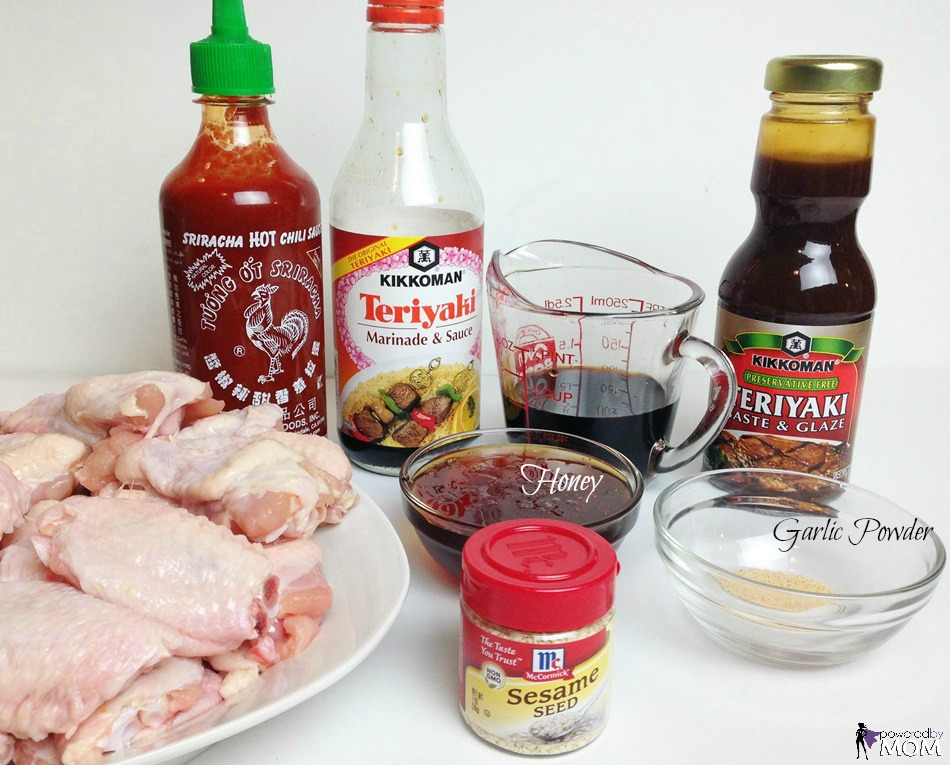 Honey Teriyaki Chicken Wings ingredients 2