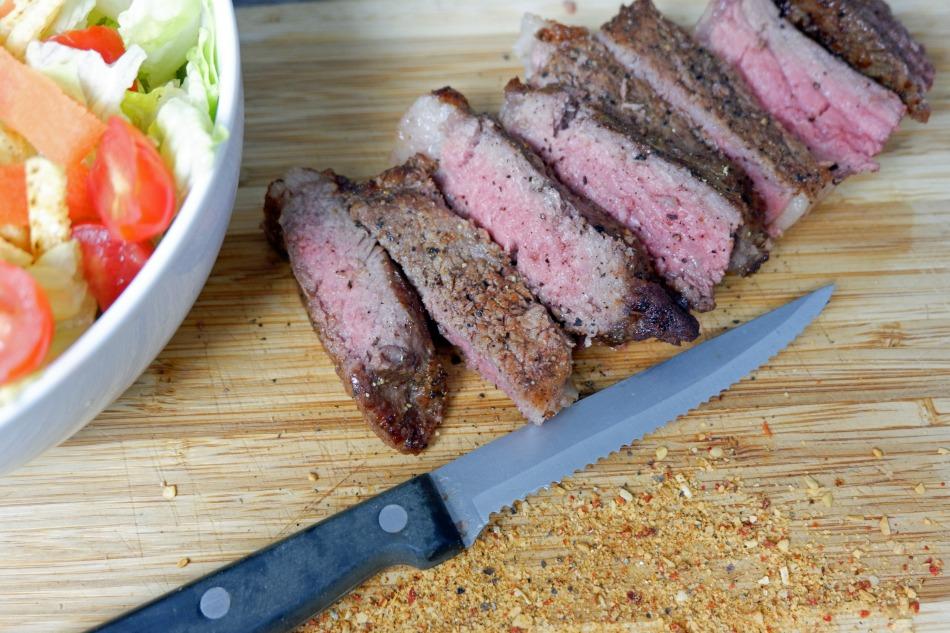 Airfryer cut steak