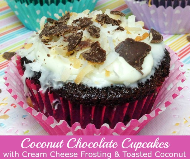 Coconut Chocolate Cupcakes with Cream Cheese Frosting ...