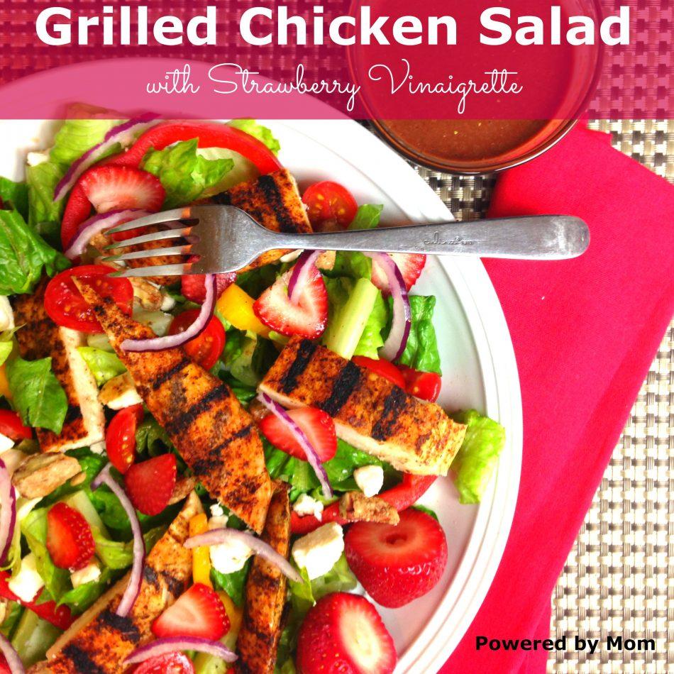 grilled chicken salad with strawberries vinaigrette