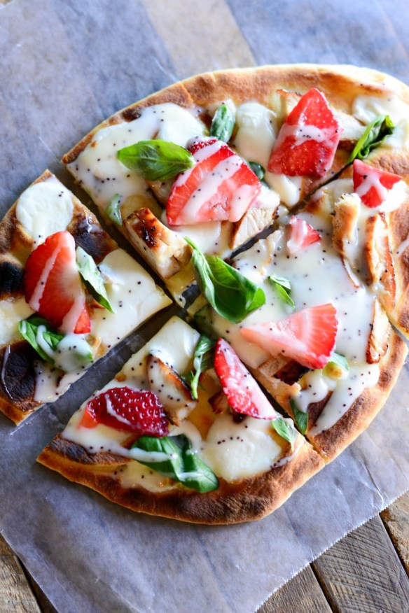 Grilled Chicken Strawberry Pizza