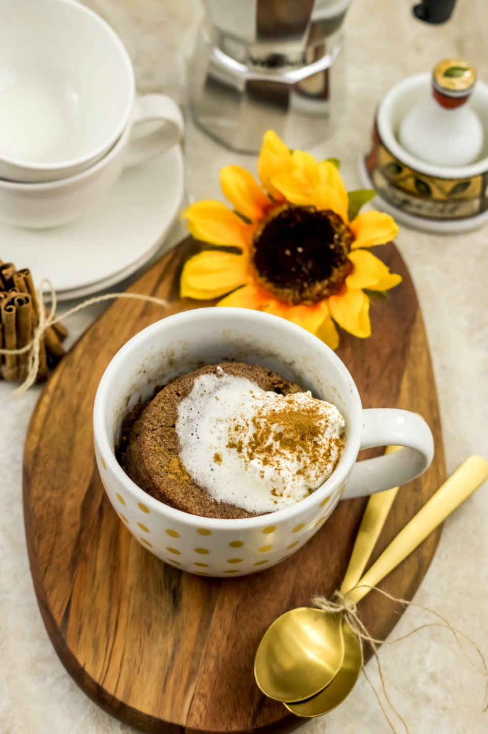 Healthy Mug Cake Recipe - Paleo Cinnamon Coffee Mug Cake