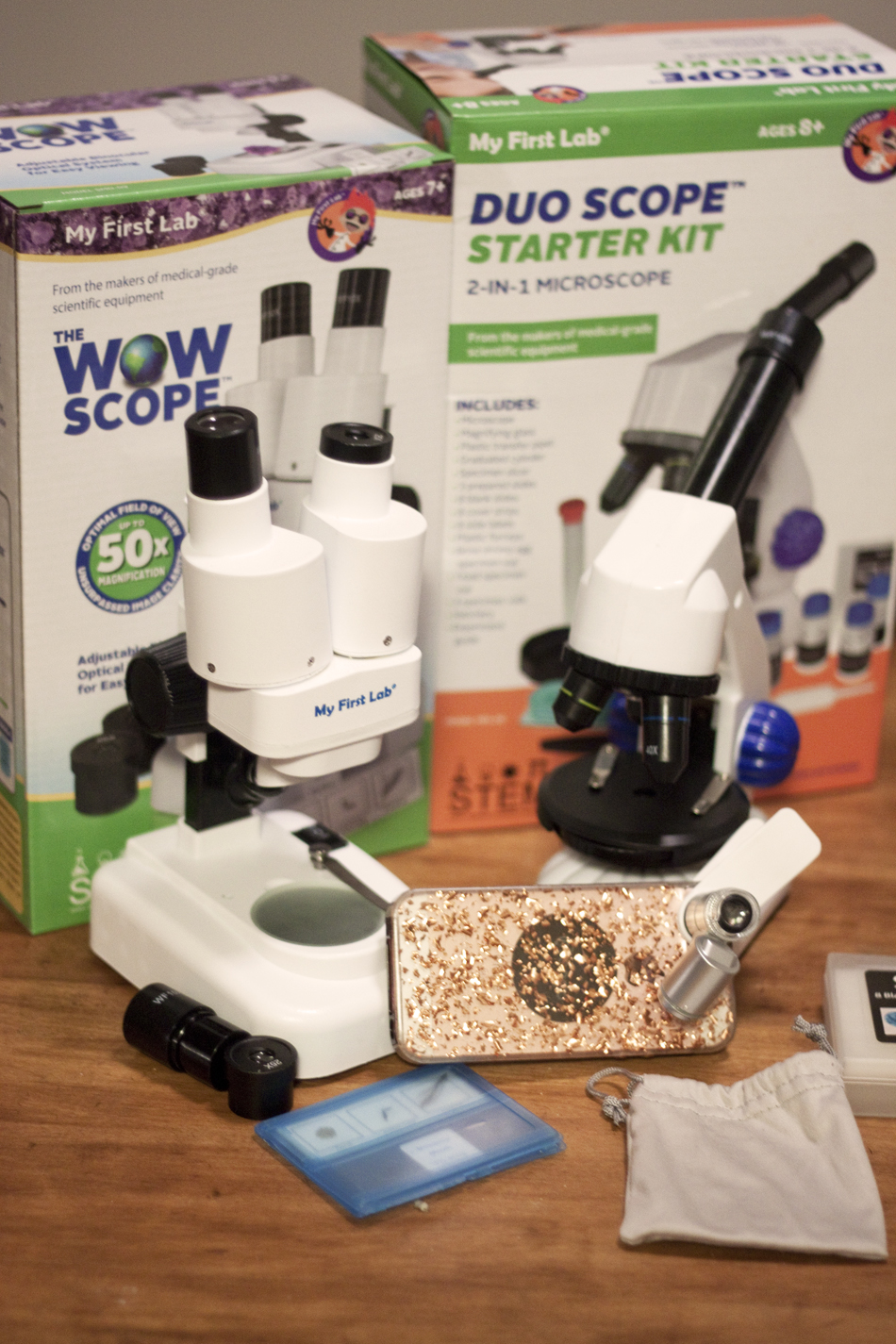 My First Lab Microscope WOW Scope Duo Scope Smartphone Inspector