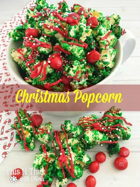 Homemade Christmas Popcorn