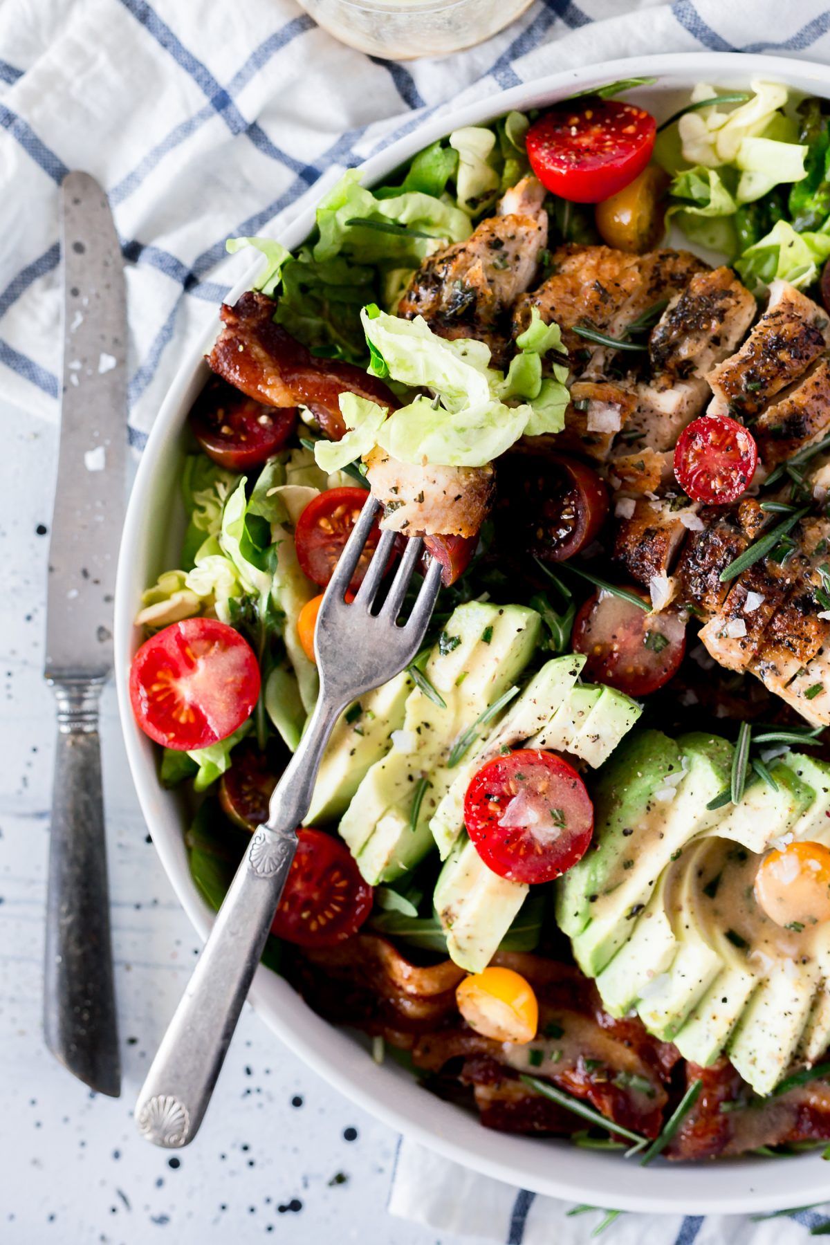 Rosemary Chicken Bacon Salad