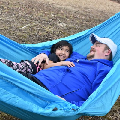 Outdoor Camping Hammock Promotes Relaxation