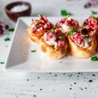 chicken appetizer chicken tartlets cream cheese cranberry salsa