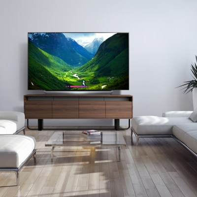 The 77'' class LG OLED Television Steals the Show