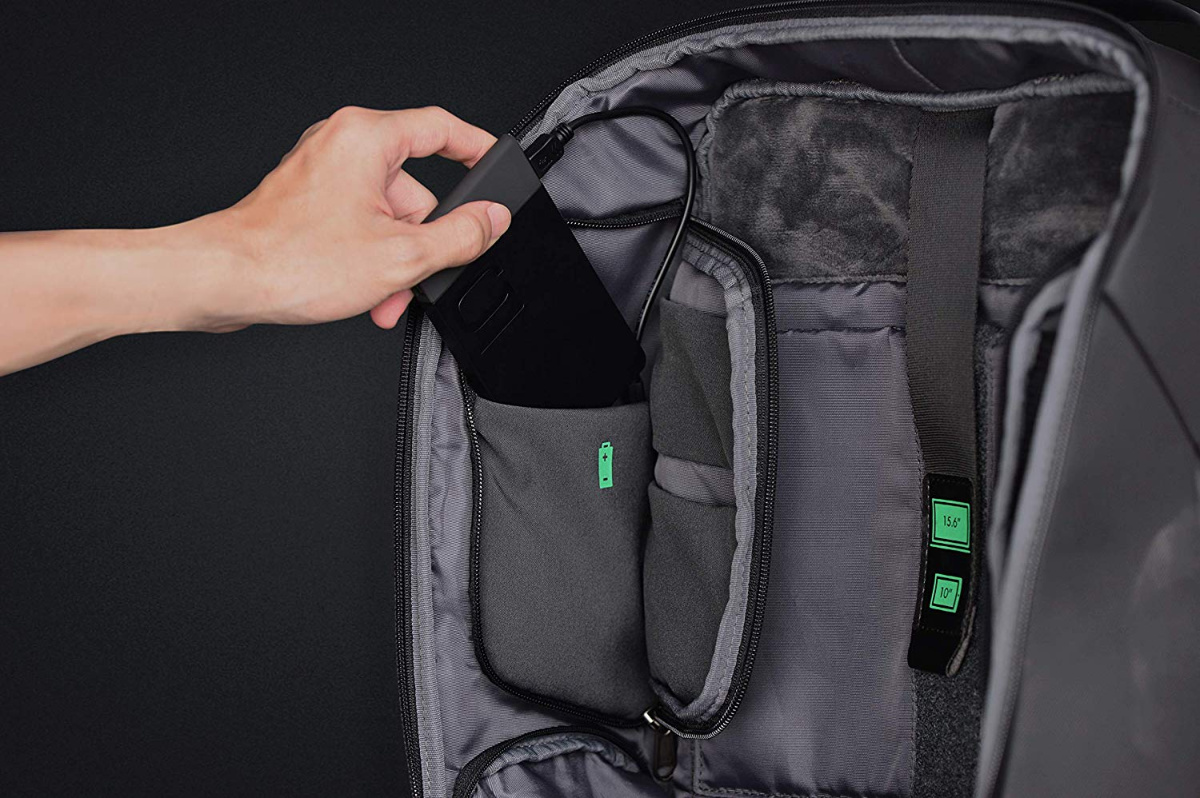 smartphone friendly anti theft backpack