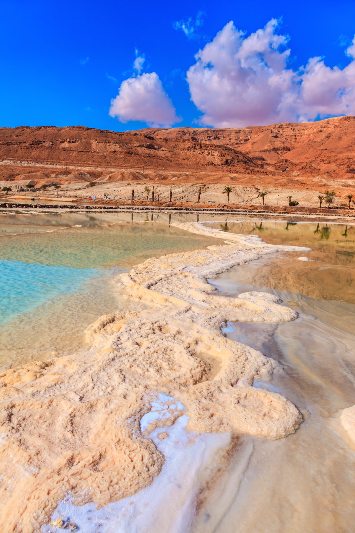 The Dead Sea at coast of Israel