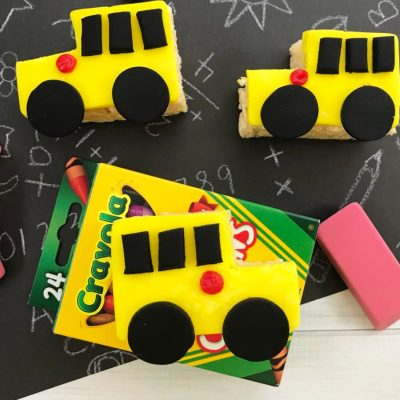How to Make Rice Krispie Treats into School Bus Shapes
