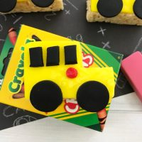 how to make rice krispie treats school bus