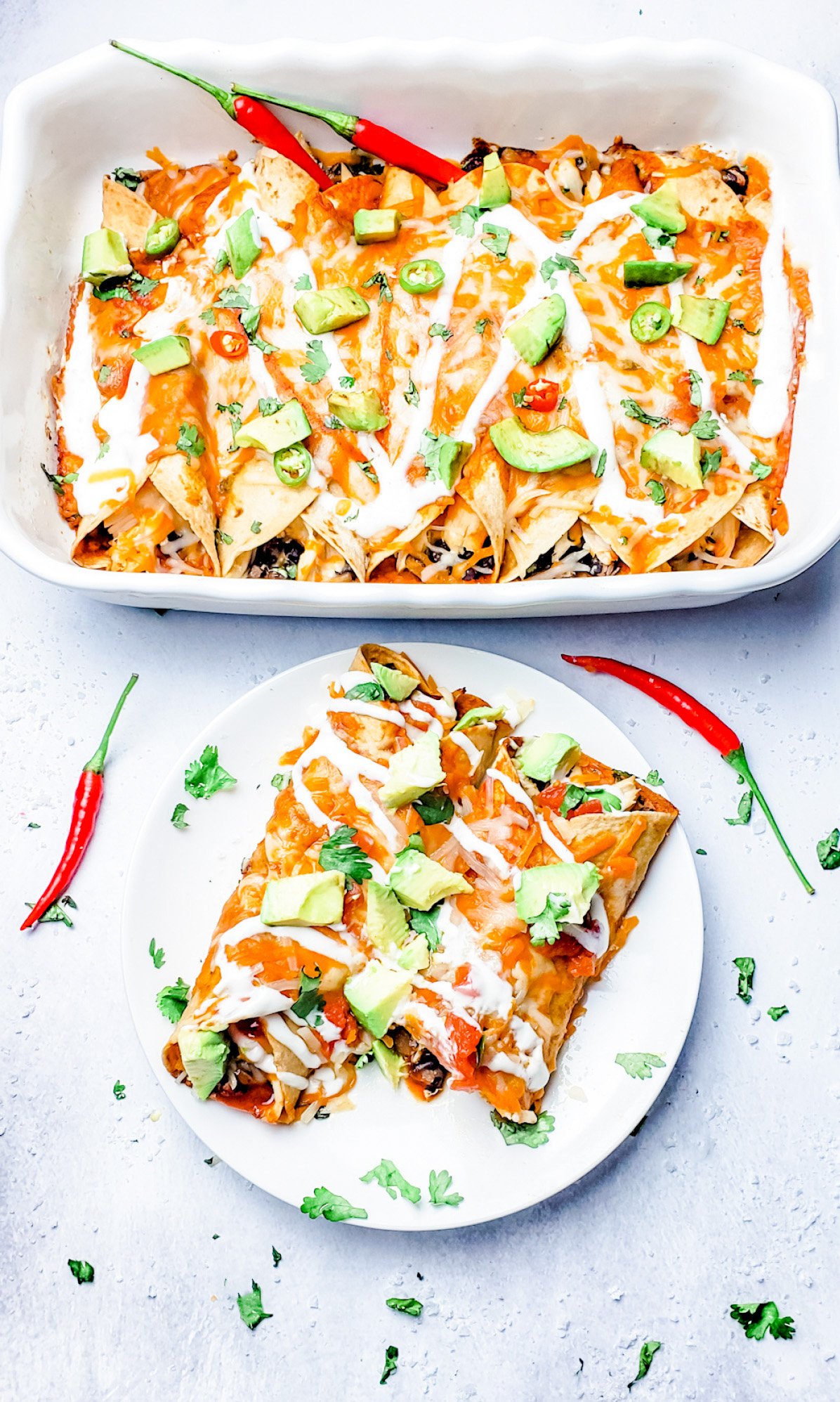 Easy Freezer Friendly Cheesy Chicken Enchiladas