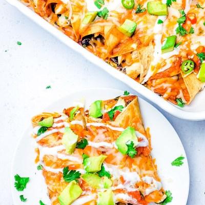 Freezer-Friendly – Cheesy Chicken Enchiladas Recipe