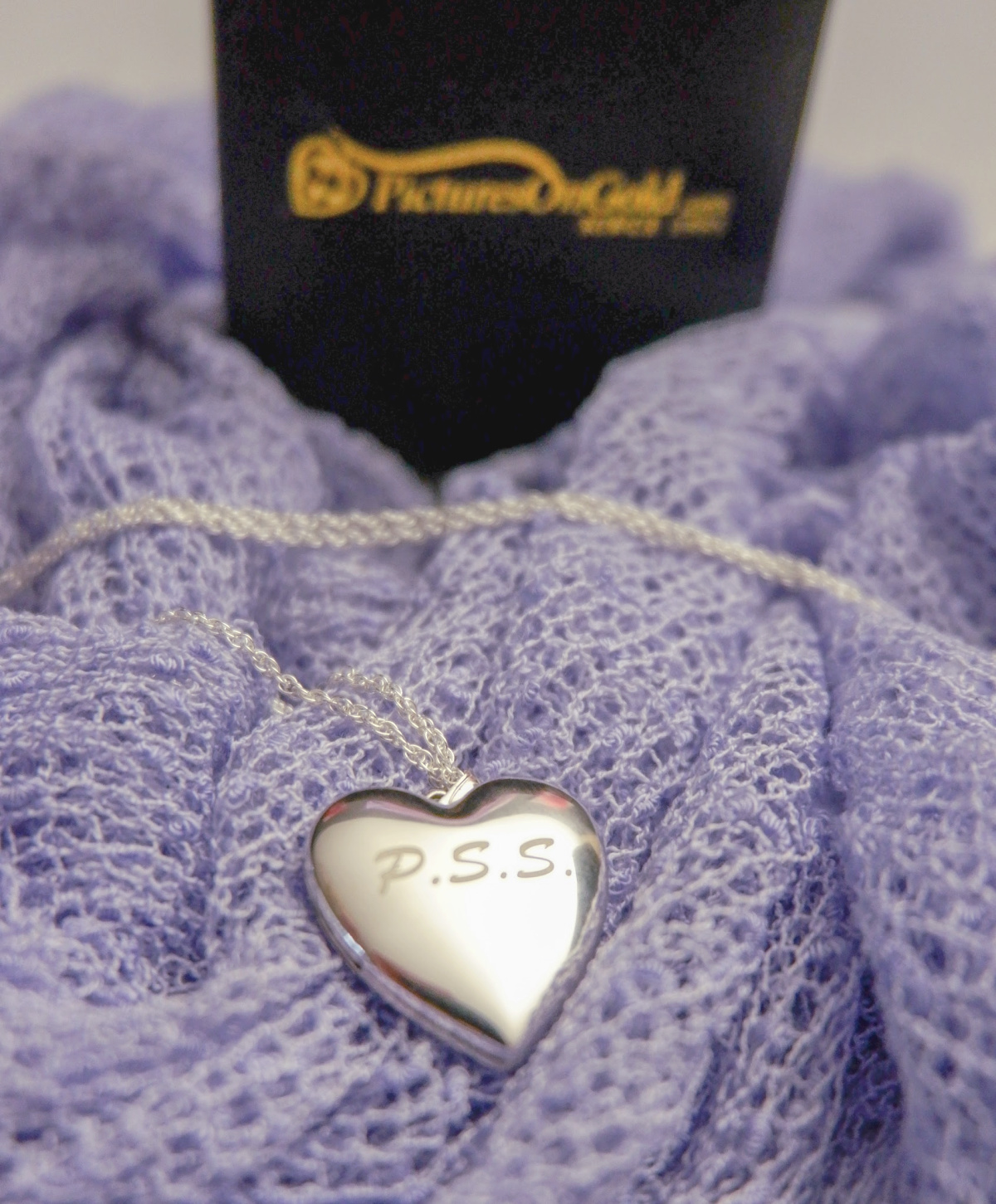 sterling silver photo heart locket