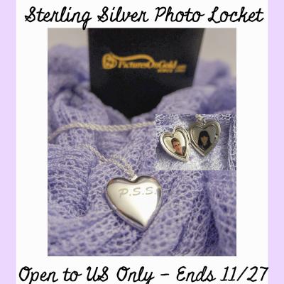 Sterling Silver Photo Heart Locket