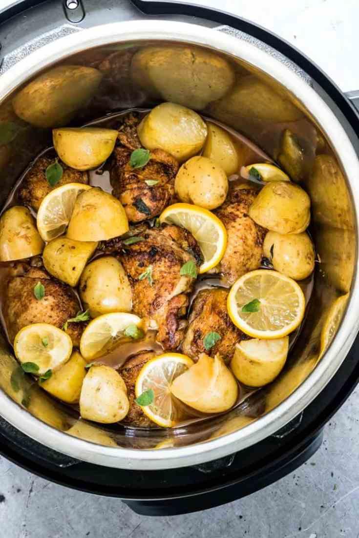 Mediterranean Instant Pot Chicken and Potatoes
