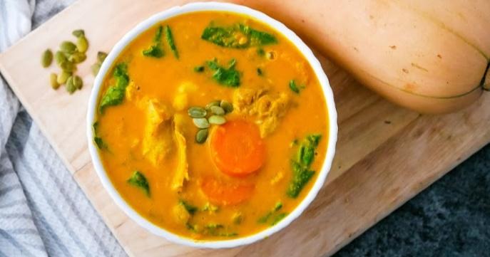Instant Pot Chicken Stew with Butternut Squash