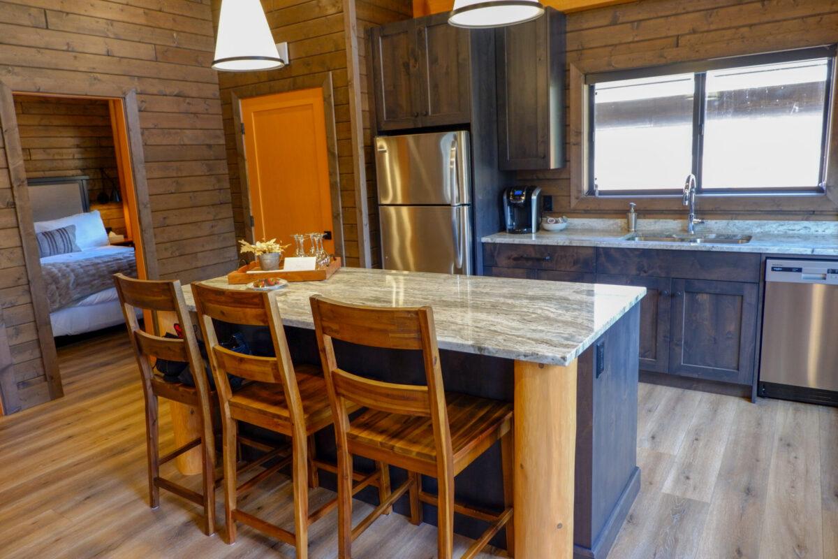 Raven Cabin kitchen