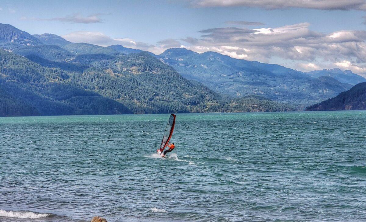 windsurfer Harrison Lake