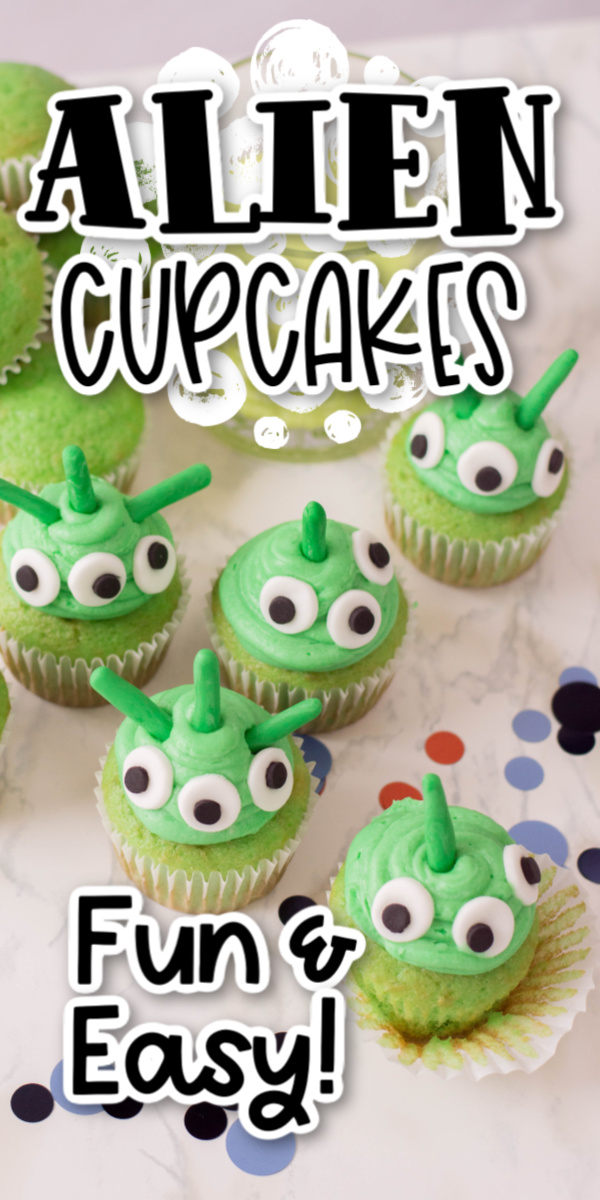 Alien Cupcakes Recipe Alien Cupcakes are the perfect upgrade on a basic cake mix that you can make with kids! A fun treat that is as easy to make as it is delicious!