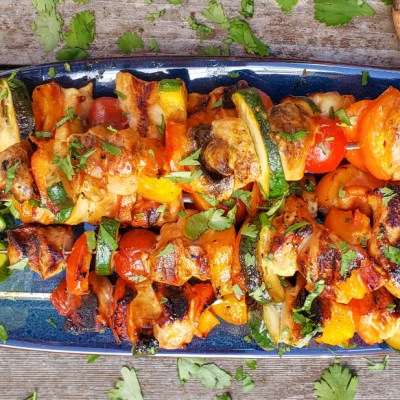 lime honey sriracha chicken kebabs pin