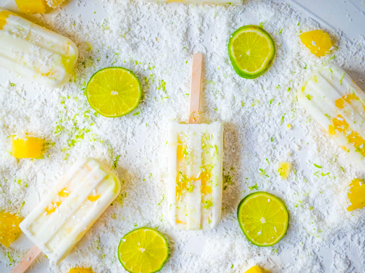 coconut pineapple popsicles