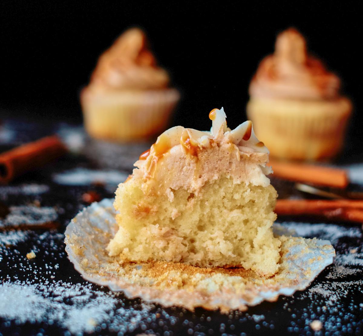 cut in half cupcake